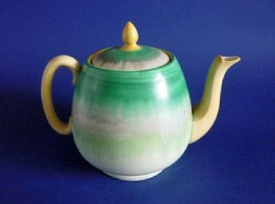 Large Shelley Harmony Drip Ware Teapot c1930